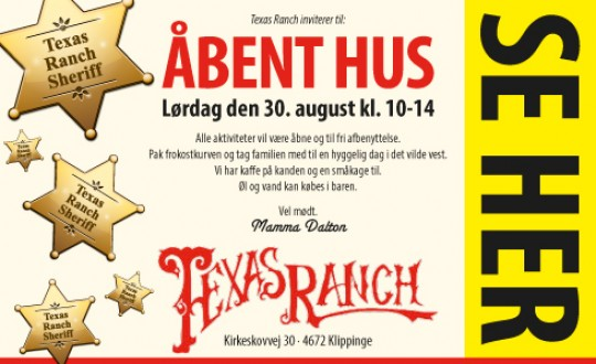 Åbent hus på Texas Ranch