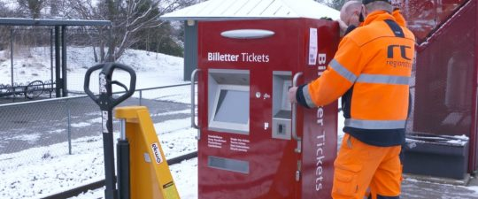 Ny billetautomat til Store Heddinge station